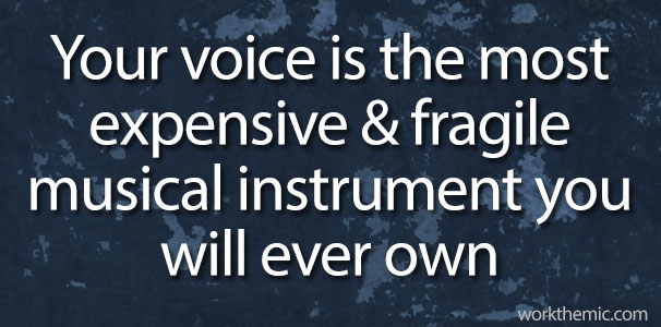 your voice is the most expensive & fragile musical instrument you will ever own